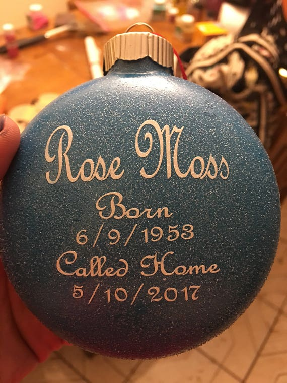 Christmas Ornaments For Lost Loved Ones Part - 28: Christmas Ornament Honoring Lost Loved One