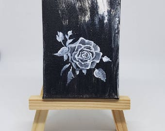 Rose Acrylic mini Painting with Easel