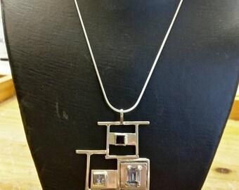 Mondrian inspired  pendent