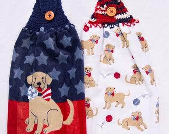 Dog Kitchen Towels - Crochet Top