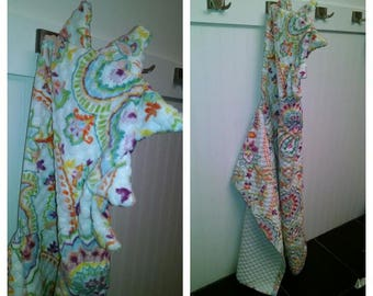 Dino Hooded Towel- Spring Colors