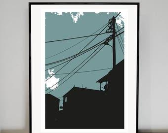 Telegraph Pole   02 art print