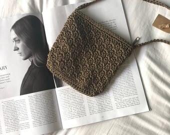 Vintage crochet shoulder bag