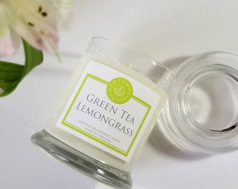 Green Tea Lemongrass 12oz soy candle