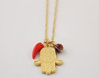 Hamsa Hand Gold Chain