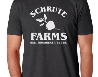 Schrute Farms Bed And Breakfast Mens Shirt by Brain Juice Tees