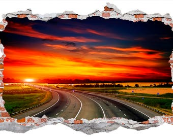 Sunset, Smashed Wall Sticker, Wall Decals