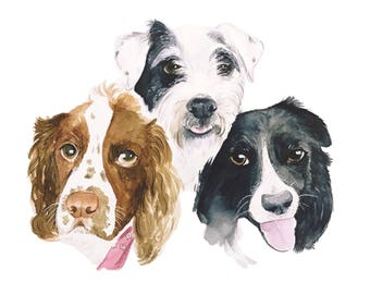 Custom Group Pet Portrait Original