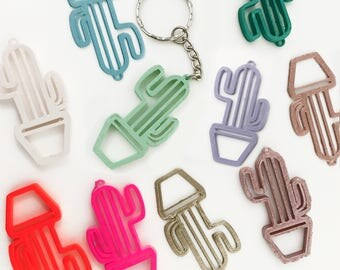 Cactus Keyring, Keychain, Cactus Gift, Succulent Keyring, Gift For Gardeners, Trendy Gift, Cool Keyrings