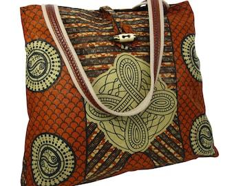 Tote Bag African Print, Shoulder Bag Everyday Bag, Beach Bag, Holiday Bag, Wax Print, Shopping Tote, Wax Print Shopping Bag Abstract Print