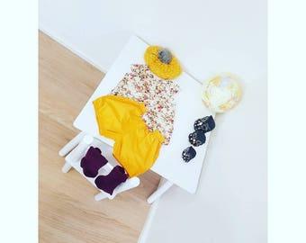 Mustard & Maroon floral set