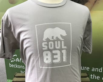 100% Cotton T-shirt 831 Soul Central Coast California
