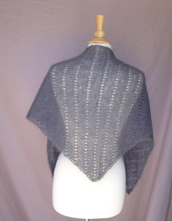Easy Lace Shawl Knitting Pattern Eyelet Rows Garter Stitch Lace