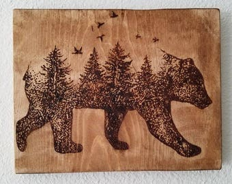 Wood Burned Bear