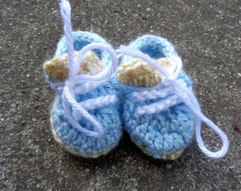 baby booties, baby boy shoes, boy booties, blue booties, baby tennis shoes, newborn booties, baby shower gift, cute booties, booties for boy