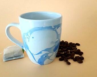 coffee cup, coffee mug, tea cup, mug, blue cup, blue, mug, ceramic mug