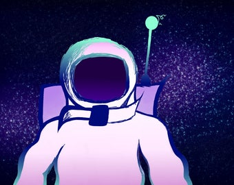 Astronaut Print/ Custom Art
