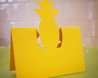 Pineapple Place Cards, Pineapple Menu Cards, Set of 12