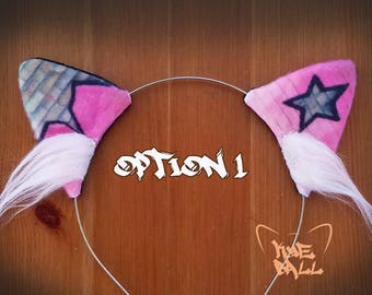 Graffiti Style Cat Kitty Ears Headband