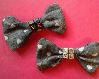 All You Need Is LOVE hair clips