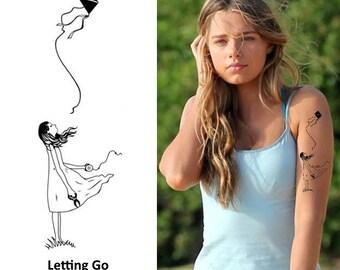 Letting Go - Temporary Tattoo