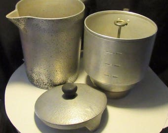Vintage Hammercraft hammered aluminum coffee pot with percolator Kitchen/Camping