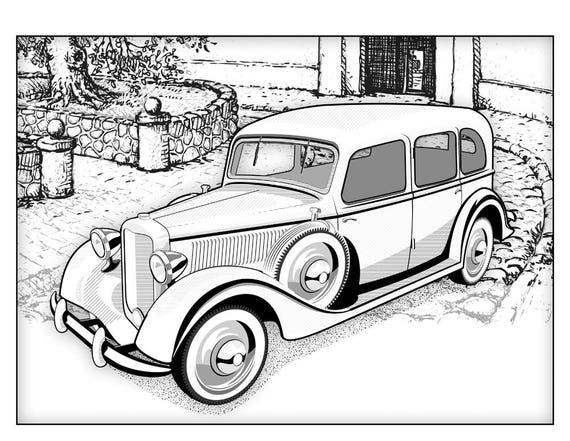 Rides Coloring Book For Adults Cars Adult Pages Travel Inspired Car