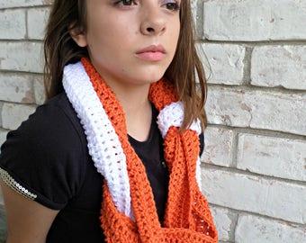 3 strand braided gameday infinity scarf