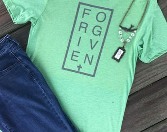 Christian Shirt, Scripture Shirt, T-Shirt, Forgiven Shirt, Women's Shirts