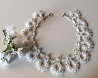 "Wedding necklace/pearls necklace ""Nadine-Sophia"""