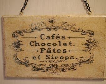 "retro, decorative ""grocery"" wooden plaque"