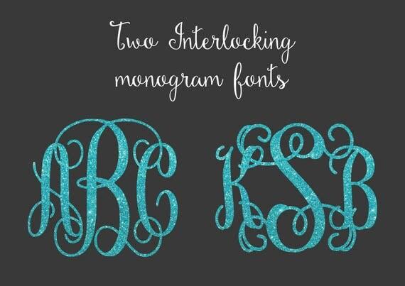 svg bundle interlocking vine monogram monogram bundle svg