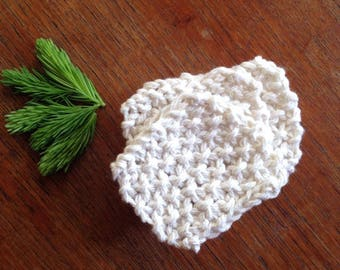 Cotton facial wipes / / hand knitted / / set of 4, 6 or 10 wipes