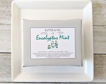 E U C A L Y P T U S +  M I N T - Handmade Soap - 100% Natural - Cold Process Olive Oil + Shea Butter Soap - 5.5oz