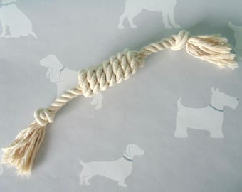 Rope Tug Toy / Natural Rope Toy / Dog Toy / Dog Toys / Natural Rope / 12mm Cotton Rope