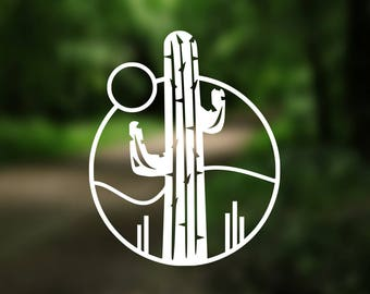 DECAL {Cactus} Succulent Decal  | Cactus Vinyl Decal | Car Window Decal | Laptop Decal | Desert Hiking Camping | Cactus Phone Decal | Yeti