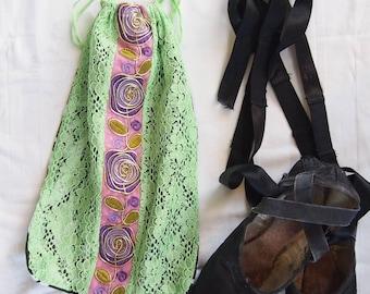Pointe shoe bag - Ballet shoe bag - Dance shoe bag - Dance gift - Ballet gift - Small bag - Gift for dancer - Drawstring bag