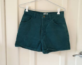 Vintage teal high-waisted shorts size US 6