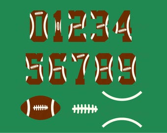 Football Stitch, ball, numbers,  svg, png, dxf, pdf for cricut, silhouette studio, cutting machines, vinyl decal, stencil, t shirt design