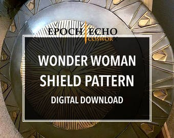 Wonder Woman Shield Pattern - Digital Download