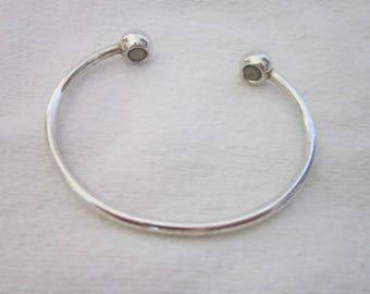 Vintage Silver Magnetic Wellness Cuff Bracelet