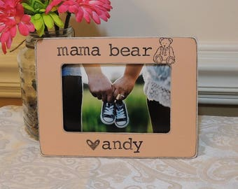 Mom to be gift for mom mommy Mama bear picture frame Mother's day gift Pregnancy Expecting mom gift Personalized photo frame