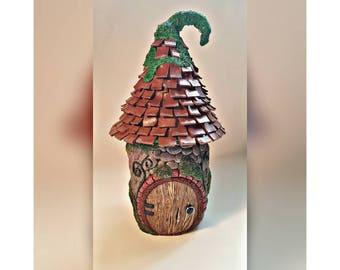 Ceramic Fairy Cottage Jar