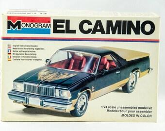Super Rare Vintage Monogram Chevy El Camino 1/24 Scale Model Car Kit # 2241