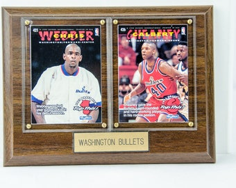 Framed Washington Bullets 1995 Skybox Chris Webber & Calbert Cheaney Cards