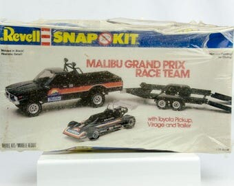 Sealed Rare Vintage Revell Malibu Grand Prix Race Team Toyota Pickup Virage 1/25