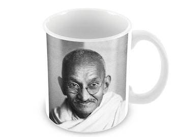 Mahatma Ghandi  Ceramic Coffee Mug    Free Personalisation