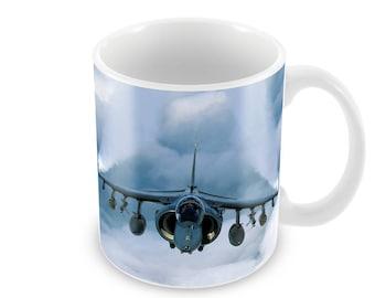 Harrier Jump Jet Ceramic Coffee Mug    Free Personalisation