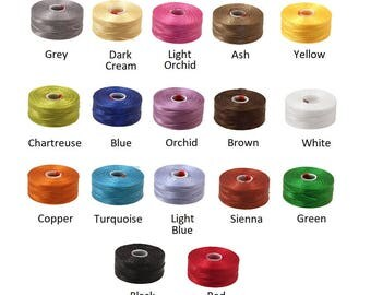 Size D C-Lon nylon thread, C-Lon nylon monocord thread size D, C-Lon Thread D, Size AA C-Lon nylon thread, C-Lon nylon thread size AA.