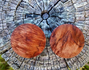 Handmade Brown Mallee burl Plugs